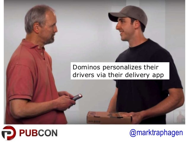 @marktraphagen Dominos personalizes their drivers via their delivery app