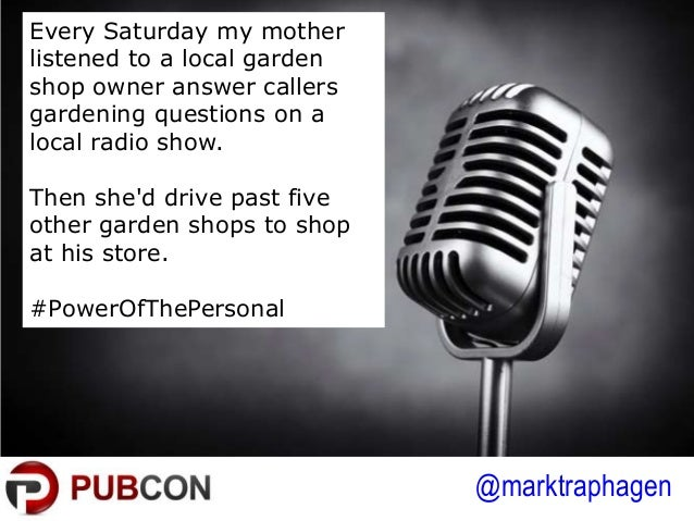 @marktraphagen Every Saturday my mother listened to a local garden shop owner answer callers gardening questions on a loca...
