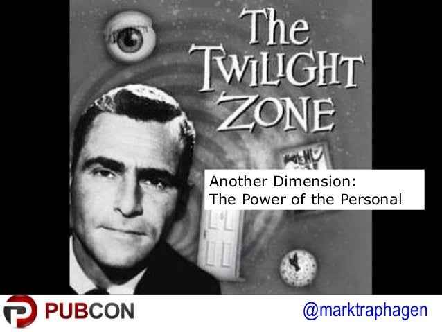 @marktraphagen Another Dimension: The Power of the Personal