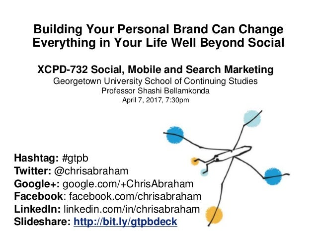Building Your Personal Brand Can Change Everything in Your Life Well Beyond Social Hashtag: #gtpb Twitter: @chrisabraham G...