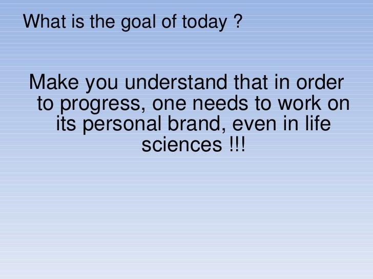 Personal branding in life sciences industry institut du monde arabe Slide 2