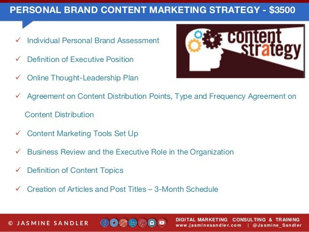 Personal branding program options by jasmine sandler and agent cy onl…