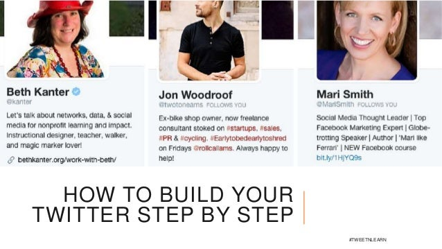 HOW TO BUILD YOUR TWITTER STEP BY STEP #TWEETNLEARN