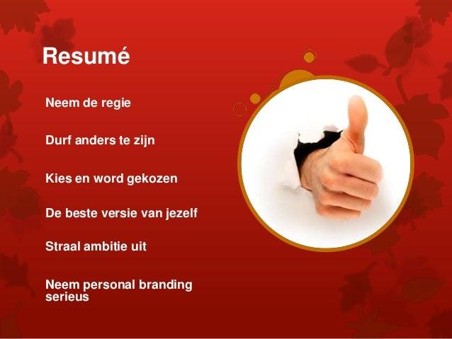 Personal Branding Werkconferentie 12.11.2015 Kleurrijk Werkt!