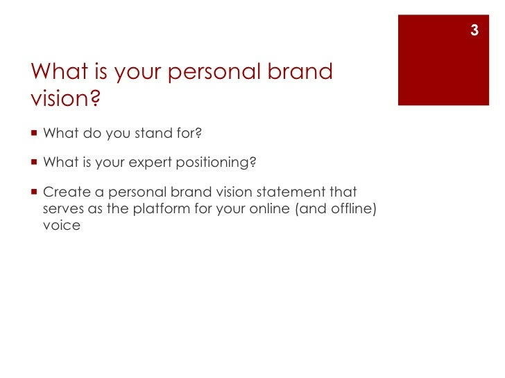 Create A Personal Brand Vision Statement