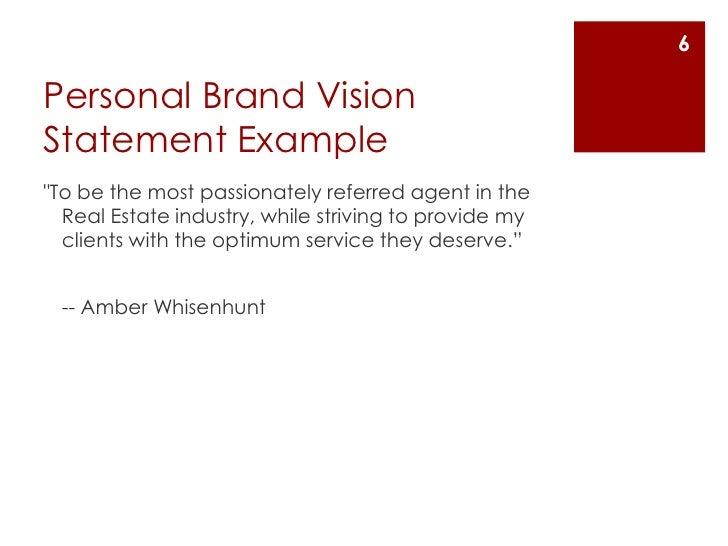 Superior Personal Brand Vision Statement Exampleu003cbr ...
