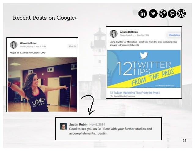26 Recent Posts on Google+