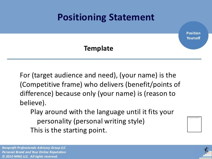 personal positioning statement