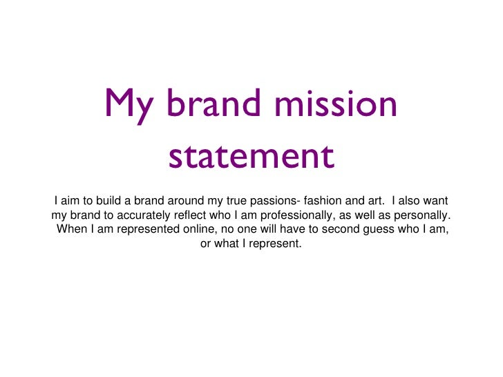 Fashion brand mission statements