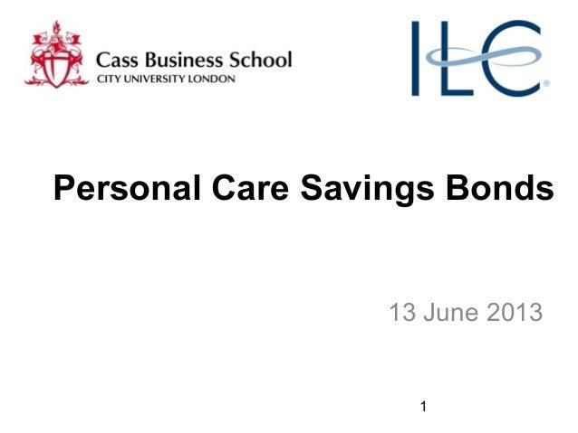 1Personal Care Savings Bonds13 June 2013