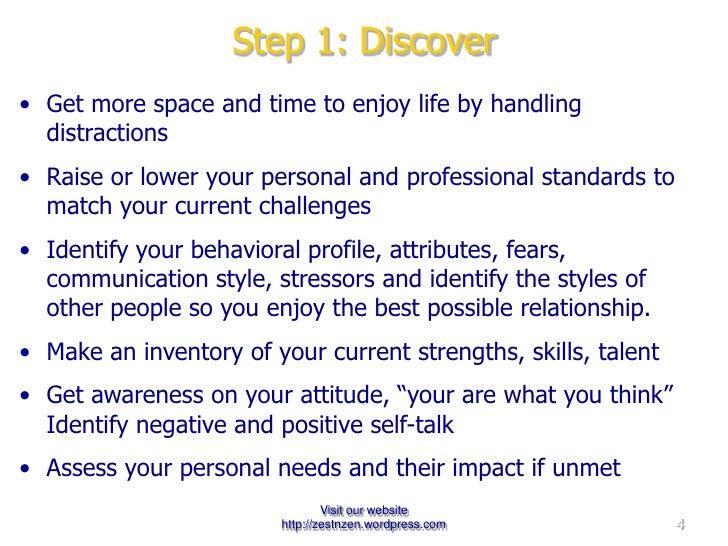 Step 1: Discover <ul><li>Distractions  </li></ul><ul><li>Standards  </li></ul><ul><li>Behavioral Profile </li></ul><ul><li...