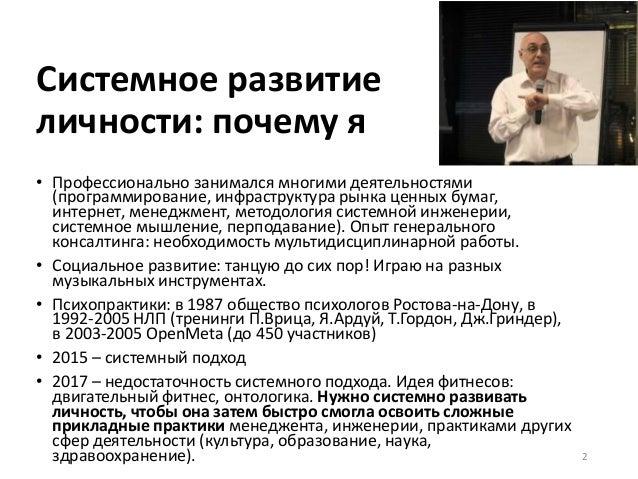 А.Левенчук -- системное развитие личности Slide 2