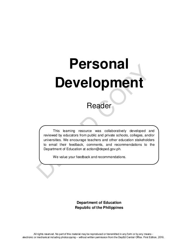 Personal Development (Reader)