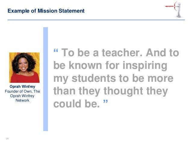 Oprah winfrey vision statement