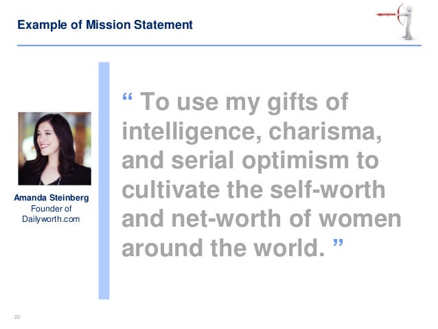 example of personal vision statement