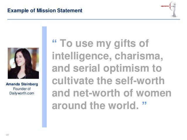 my vision statement sample