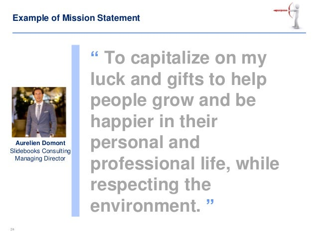 personal mission and vision statements