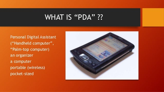 What is pda