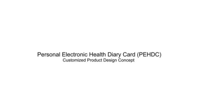 Personal Electronic Health Diary Card