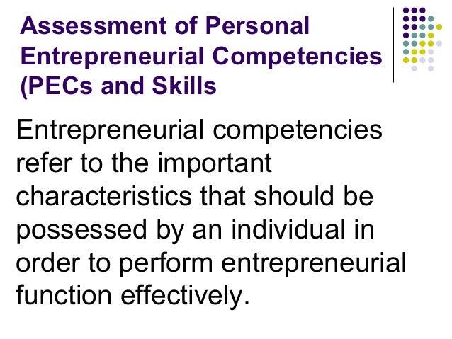 personal entrepreneurial competencies