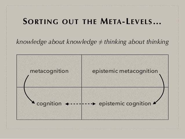 personal epistemology Epistemology and philosophy of science 3 similarly, despite not having a conceptual analysis of knowledge, it is possible to determine the conditions under which, in.