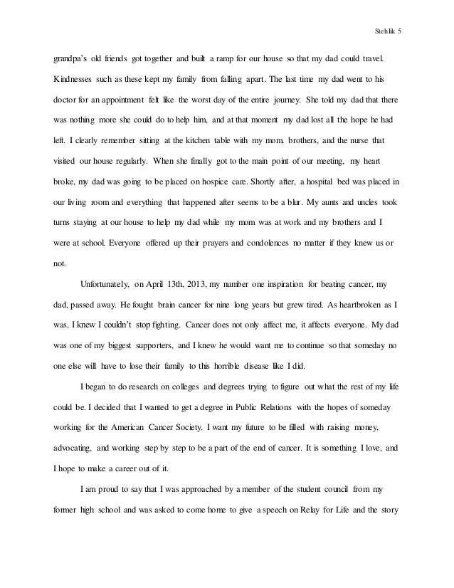 Personal Essay A Bunch Of My