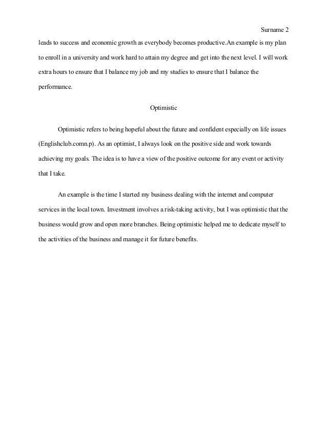 Personal essay Slide 2