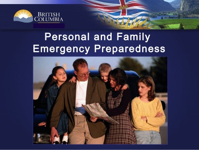 . Personal and Family Emergency Preparedness