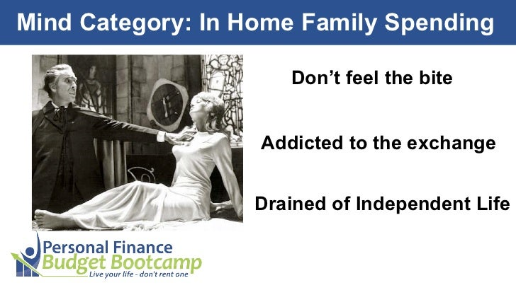 Mind Category: In Home Family Spending                      Don't feel the bite                   Addicted to the exchange...