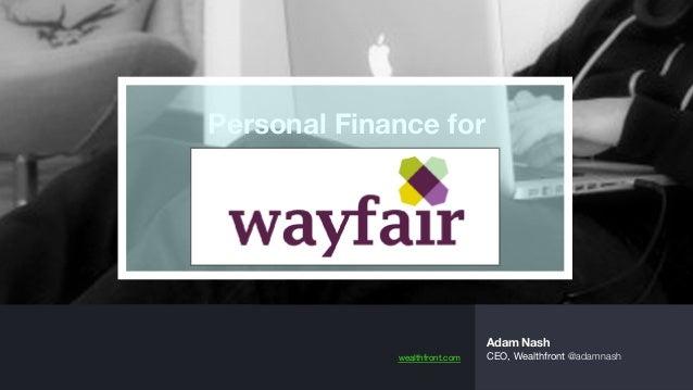 Personal Finance For Wayfair
