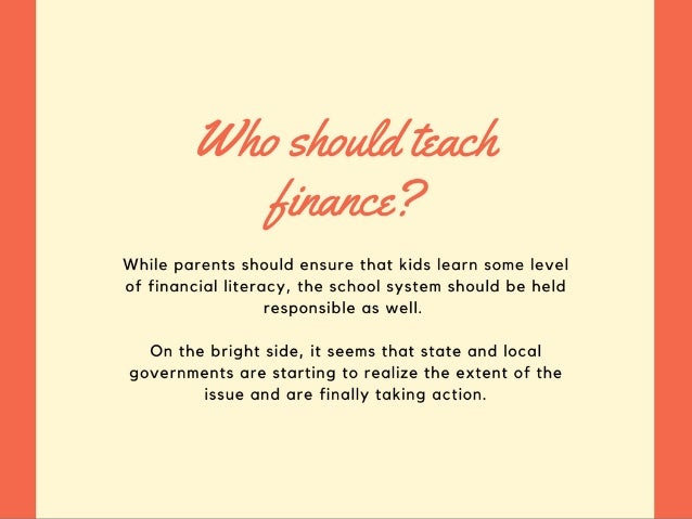 Should Schools Teach Personal Finance? Slide 3