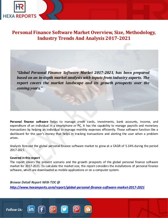 Personal finance software market overview, size, methodology