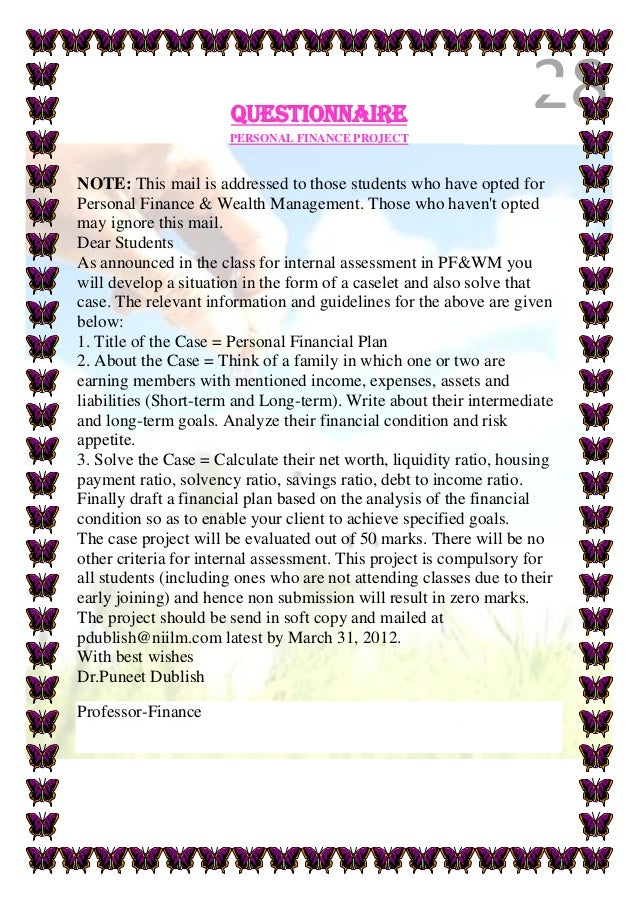 Personal Finance Project Examples Zrom