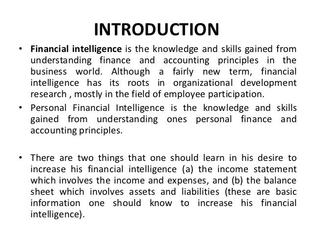 Personal Financial Intelligence by Uwamai Igein