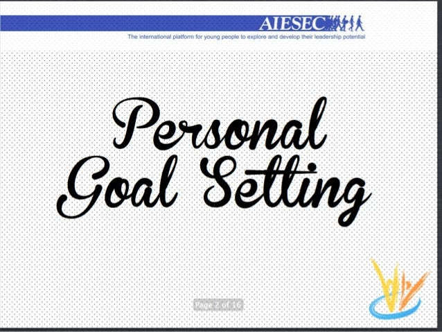AIESEC - Personal Goal Setting