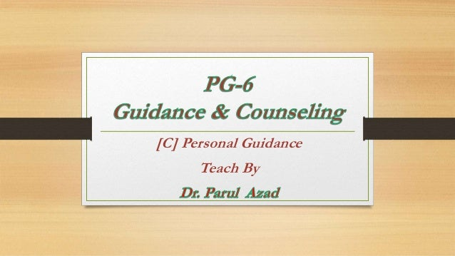 [C] Personal Guidance Teach By