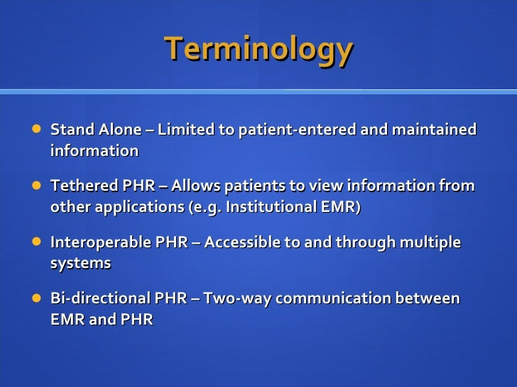 Personal Health Records An Overview
