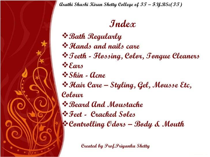 Personal Hygiene Slide 2