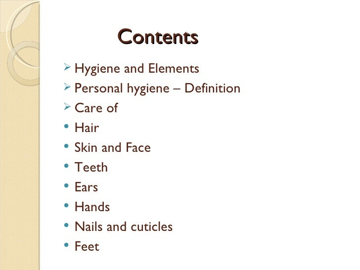 what is personal hygiene and why is it important
