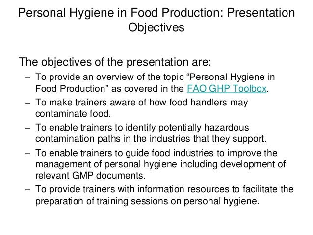 Personal Hygiene in Food Production