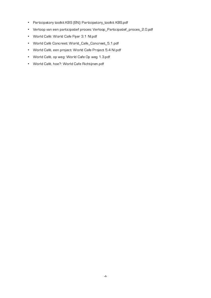• Participatory toolkit KBS (EN): Participatory_toolkit KBS.pdf• Verloop van een participatief proces: Verloop_Participati...