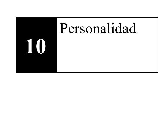 10 Personalidad