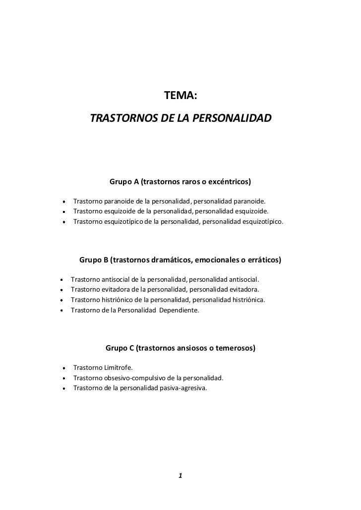 TEMA:<br />TRASTORNOS DE LA PERSONALIDAD<br />Grupo A (trastornos raros o excéntricos)<br />Trastorno paranoide de la pers...