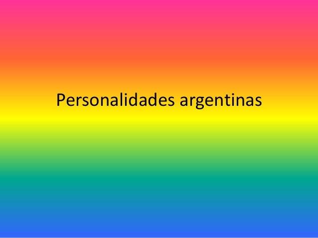 Personalidades argentinas