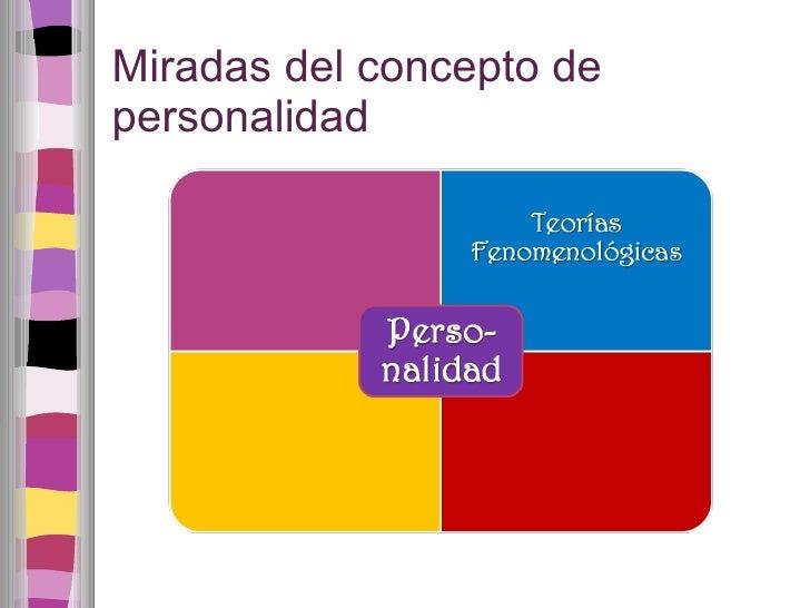 Miradas del concepto de personalidad