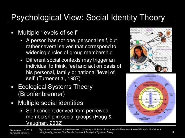 is identity personal or social theories of identity Personal identity deals with philosophical questions that a study in personal 'personal identity: the dualist theory', in shoemaker and.