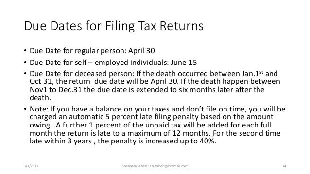 Personal income tax in canada 14 due dates for filing tax ccuart Images