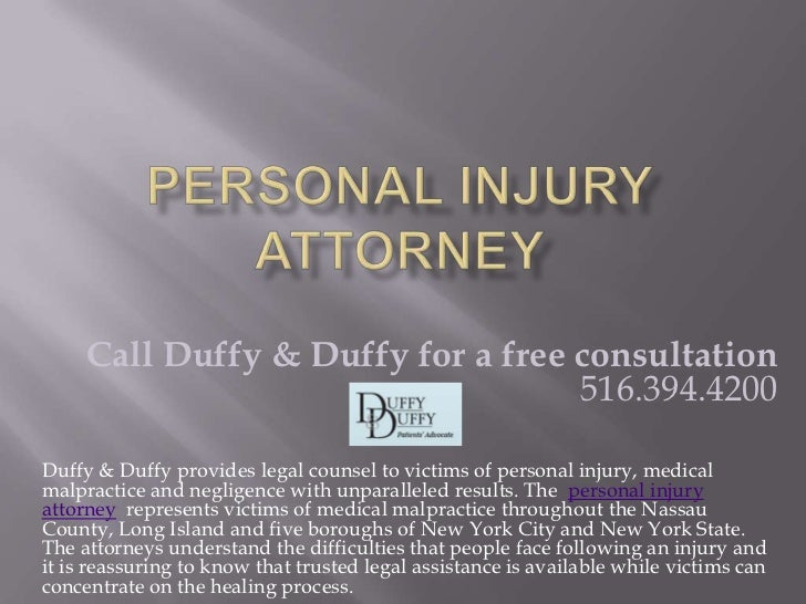 Call Duffy & Duffy for a free consultation                                   516.394.4200Duffy & Duffy provides legal coun...