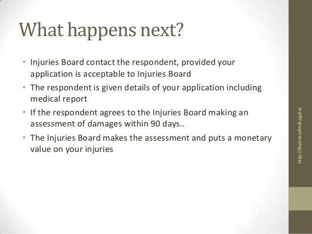 the personal injuries assessment board I broke my ankle last january when i fell on a wet floor in a public building i ended up on crutches until the april they then discovered ligament dam.