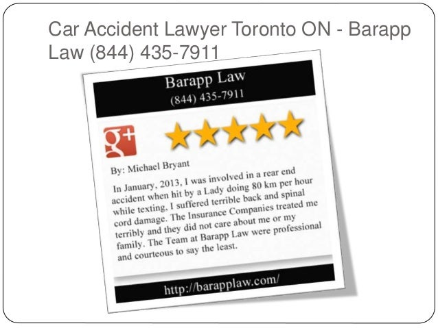 Car Accident Lawyer Toronto ON - Barapp Law (844) 435-7911